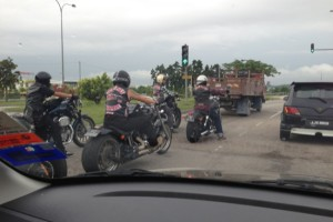 Not the usual motorbikes…  The War Pigs of Singapore…