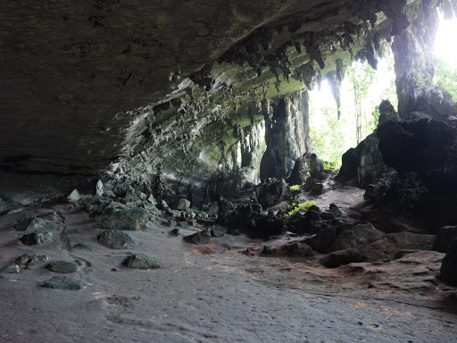 Traders Cave - view across the cave. The floor of the cave was slippery and felt spongey underfoot.
