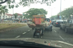 The motorcycles of Malaysia… The 'food truck'