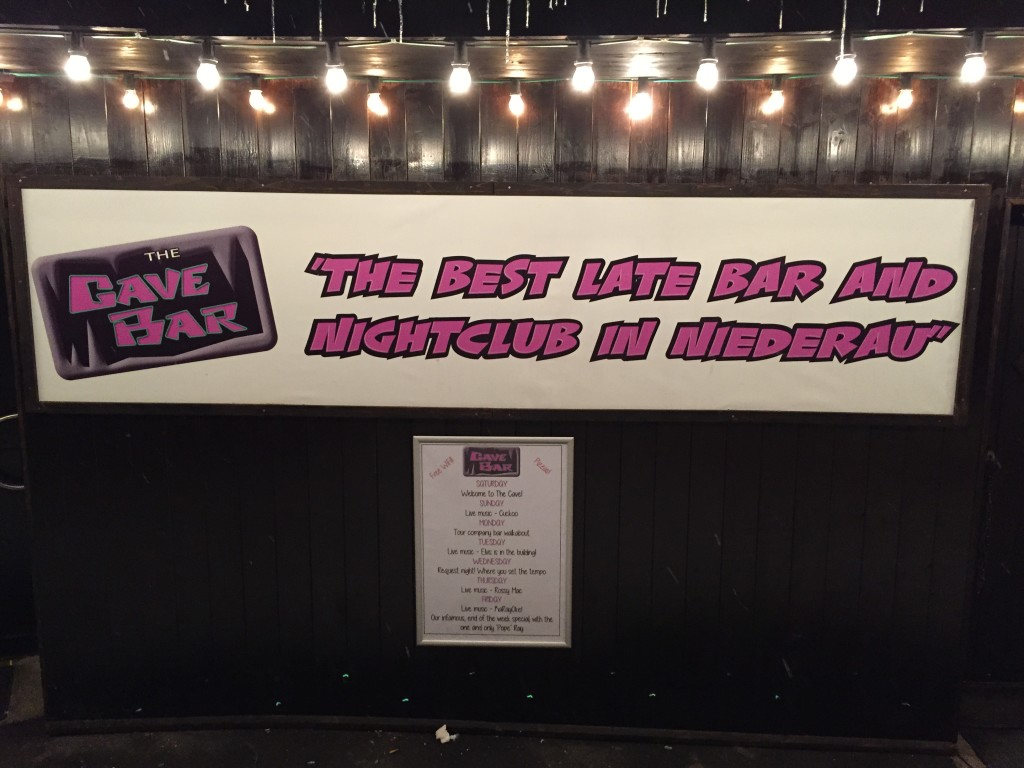 "The Cave Bar - ""best late bar and nightclub in Niederau"" (in fact the only ""nightclub"" in Niederau)"