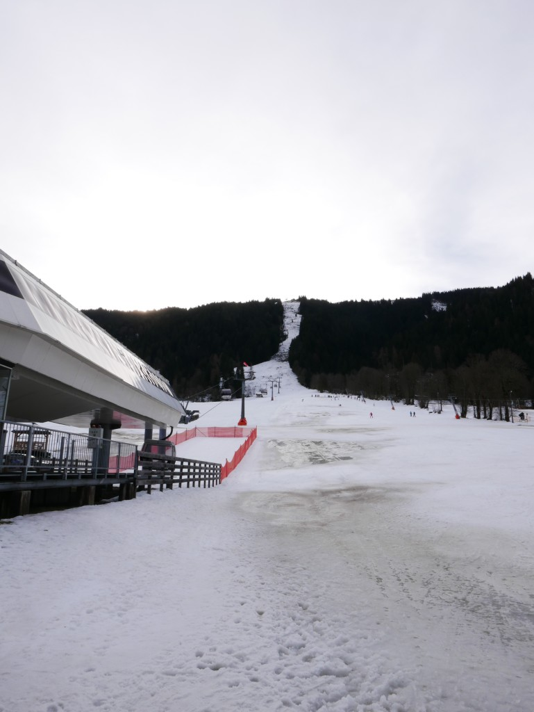 Slushy slopes in January at Niederau, Austria