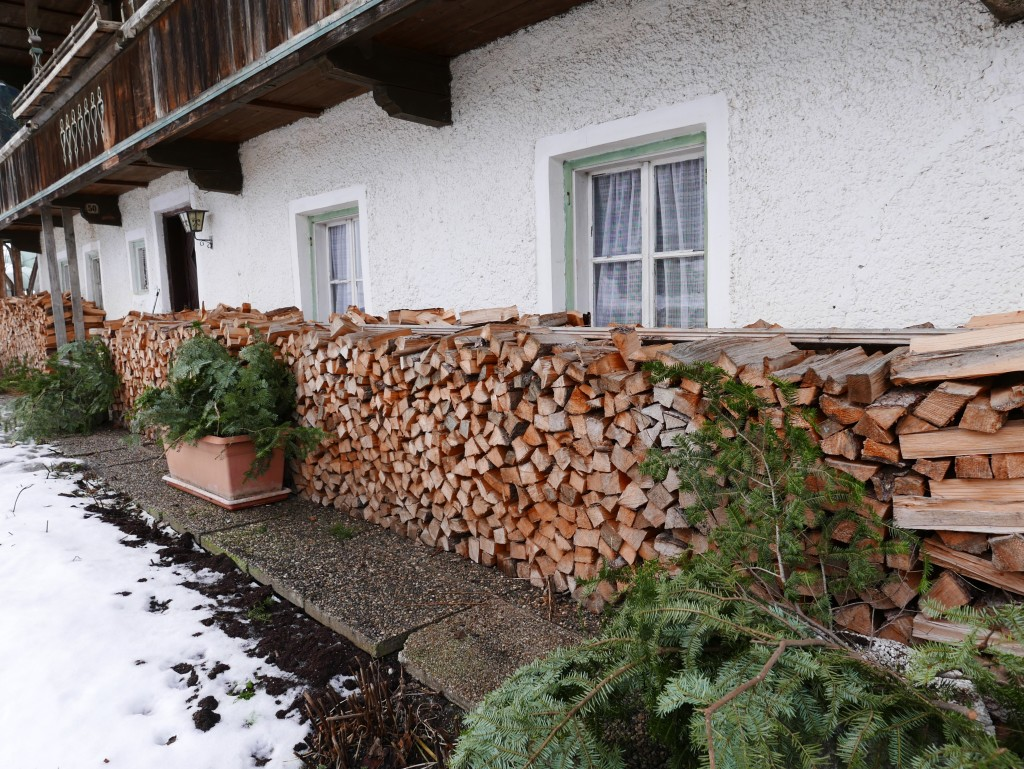 wood stacking in austria