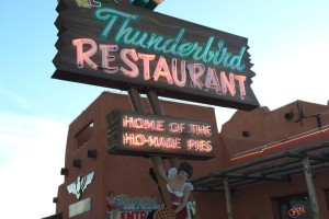 Dinner at the Thunderbird Restaurant, Mount Carmel, Utah