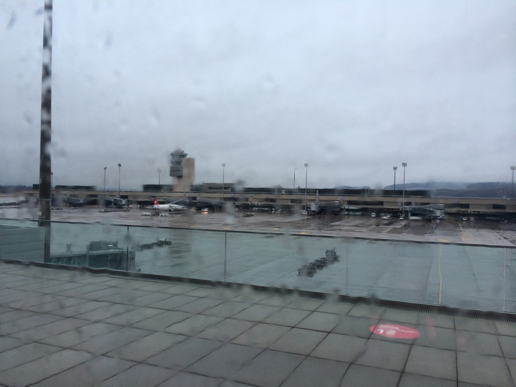 Zurich Airport in the rain