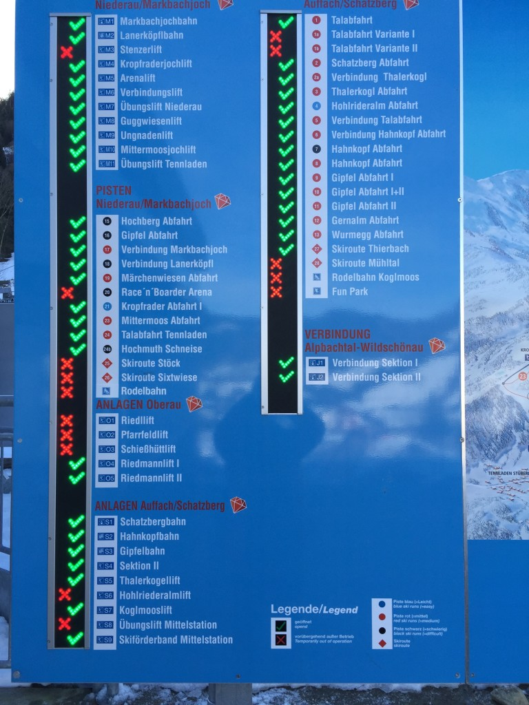 A worrying list of piste closures