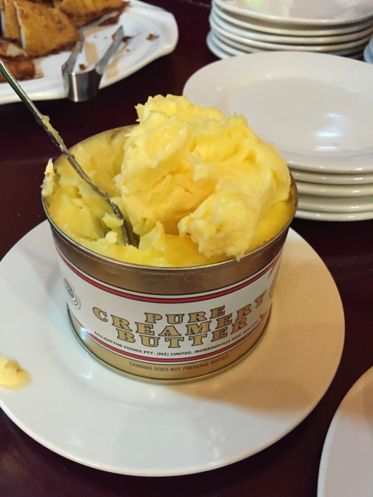 Canned butter at Hotel Mandalay