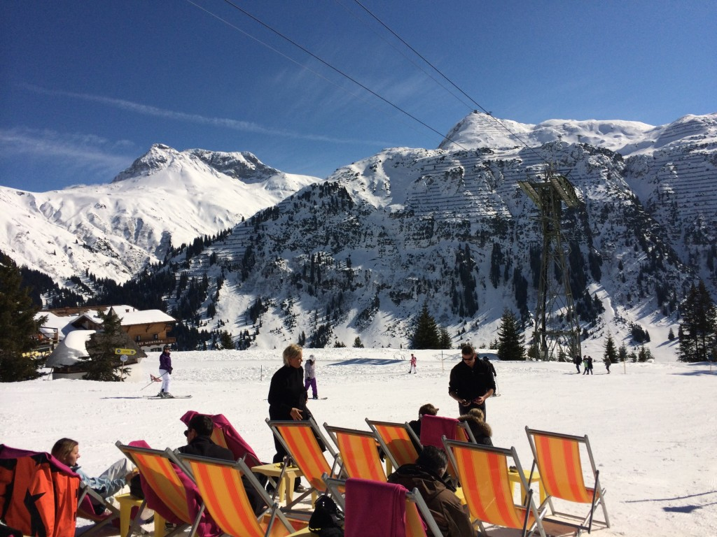 Great weather, and great skiing - it is surprising the difference a little sun can make