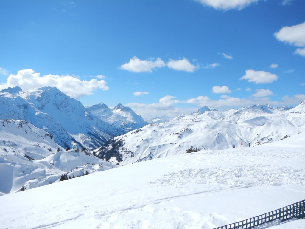 Nice to see the sun at last - Skiing St Anton, Austria