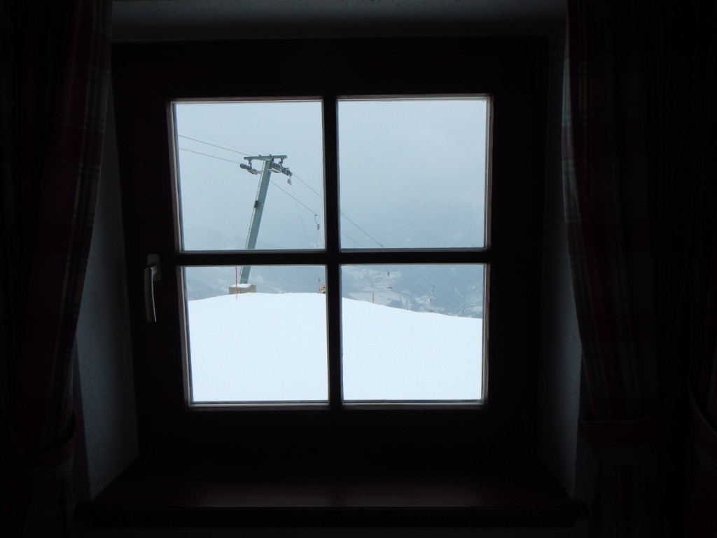 View from the Kapall Restaurant - A bleak day out there….