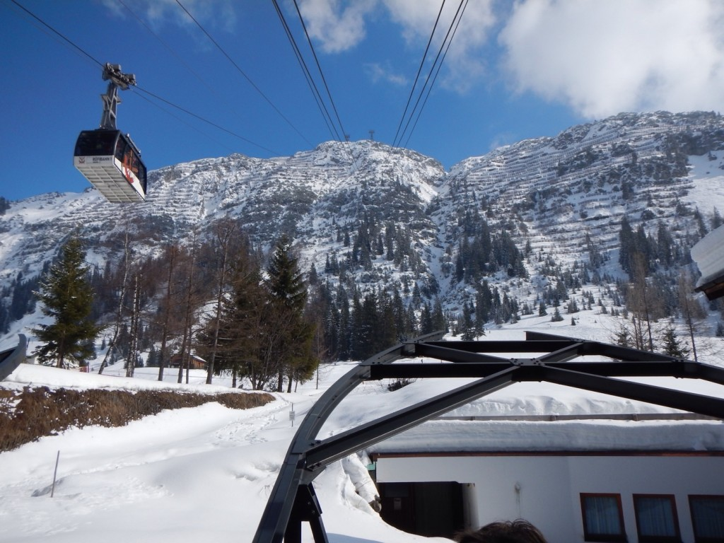 Cable car out of Lech to Zurs