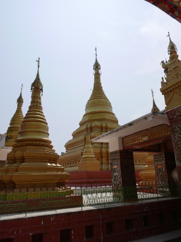 Pagodas at the top of Mandalay Hill