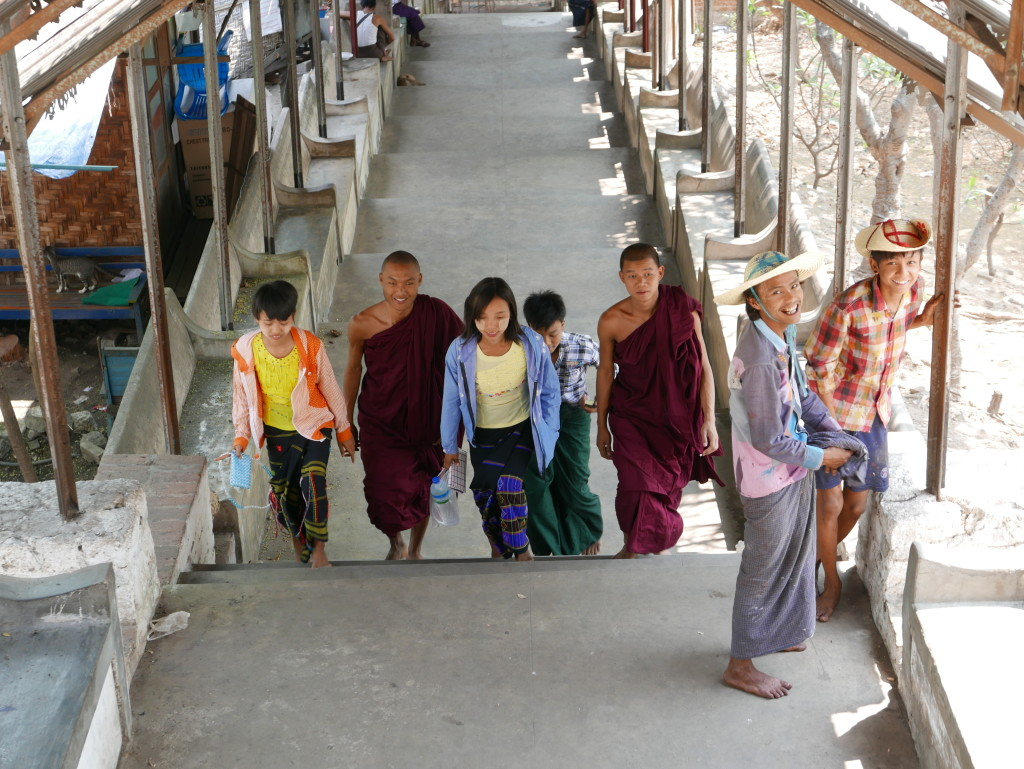 Visitors to Mandalay Hill