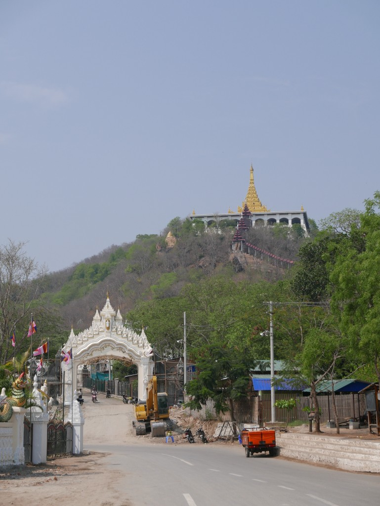 Looking back up Mandalay Hill