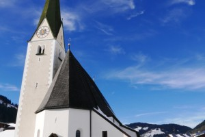 The picturesque Niederau Church, Austria
