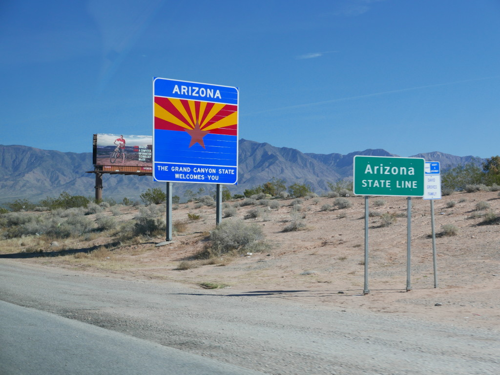 Leaving Nevada and entering Arizona