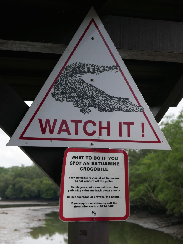 Crocodile Warning Sign Sungei Buloh Wetland Reserve