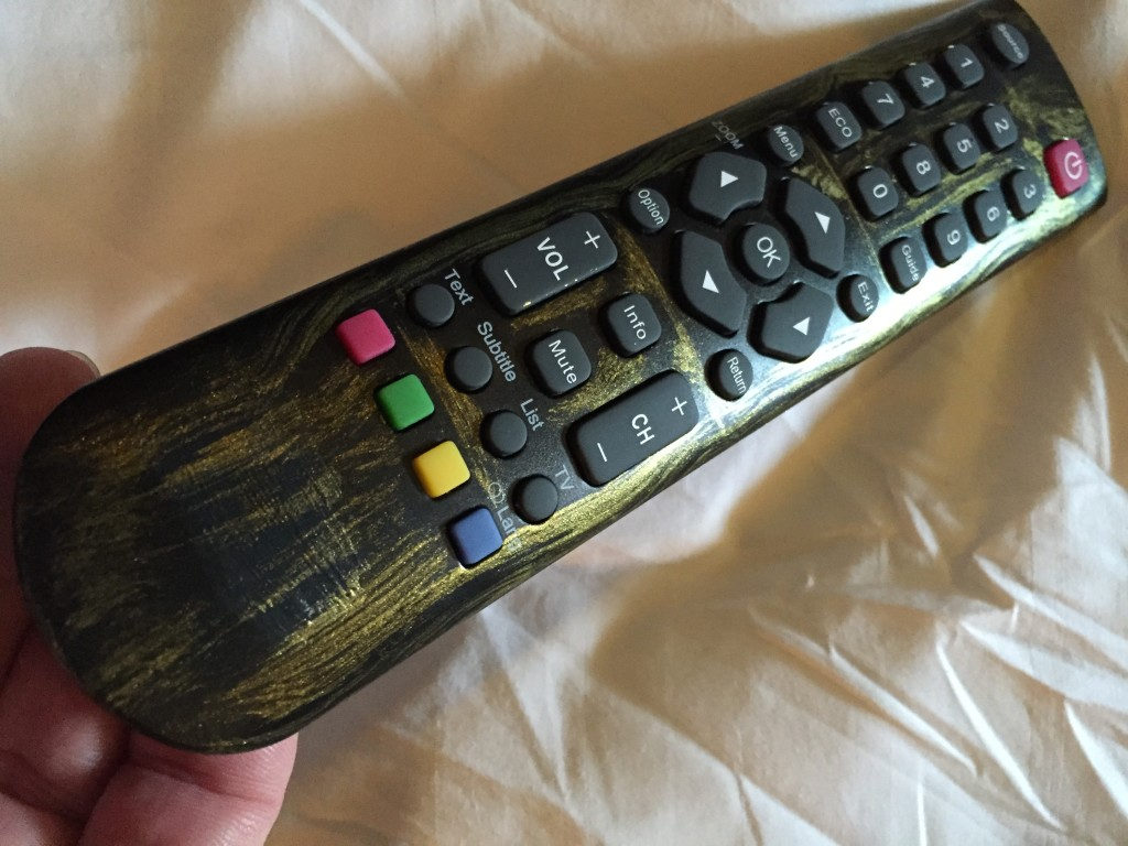 1920s faux metal theme TV remote