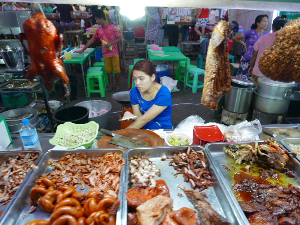 More street food - Chinatown, Yangon (Rangoon), Myanmar (Burma)