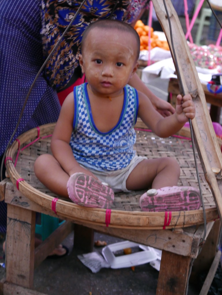 Toddler for sale - Chinatown, Yangon (Rangoon), Myanmar (Burma)
