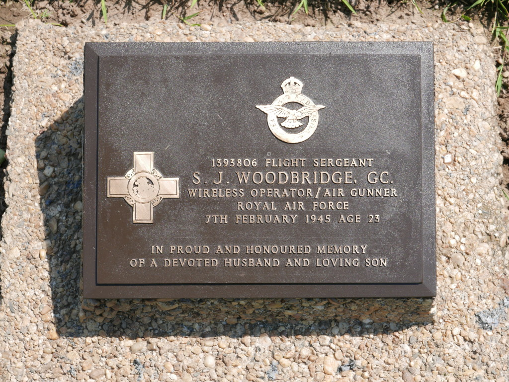 Grave of Flt. Sgt. Woodbridge