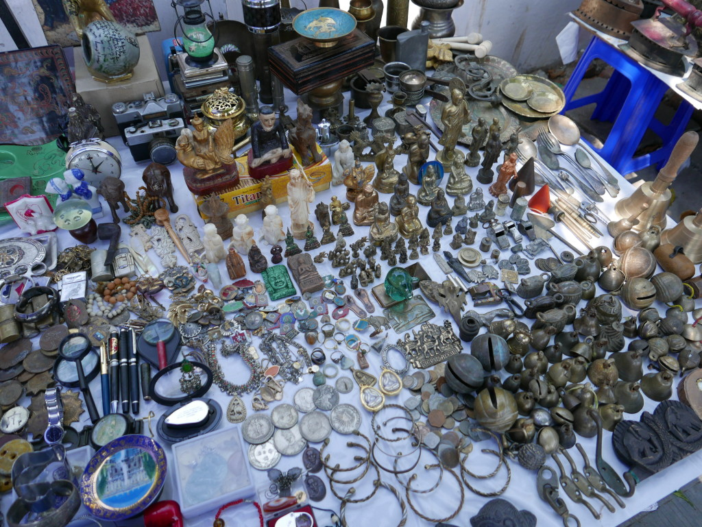 Things for sale on the street outside Bogyoke Market (Scotts Market), Yangon (Rangoon), Myanmar (Burma)