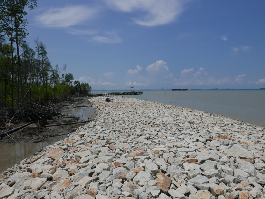 New 'improved' (ugly) sea defences at Tanjung Piai National Park