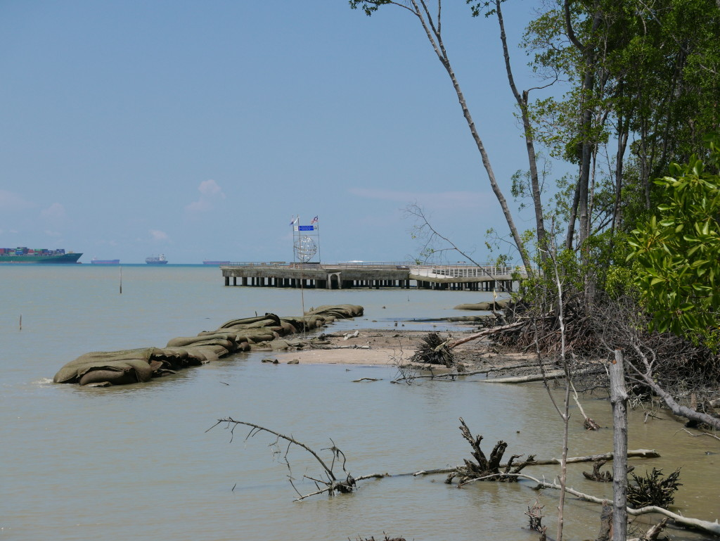 The most southerly point of mainland Asia at Tanjung Piai National Park (inaccessible on this visit due to a collapsed walkway)