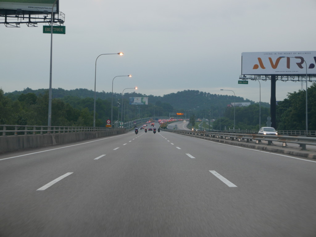 Road between Malaysia and Singapore