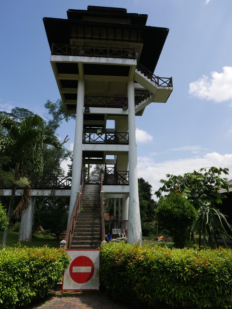 The second, closed, viewing tower