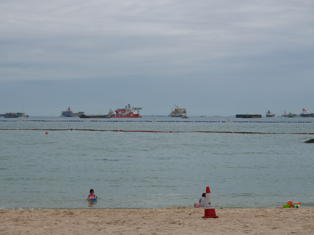 View from the beach - Sentosa Island, Singapore