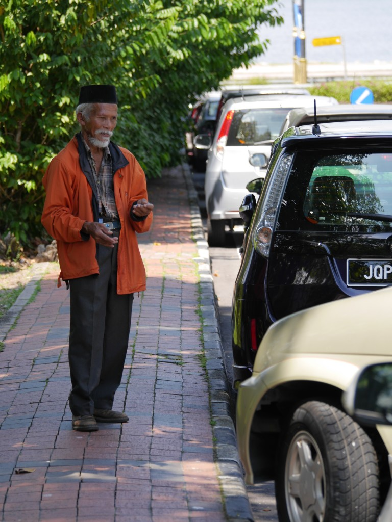 There is no parking at the zoo Johor Bahru - this guy is there to help you...