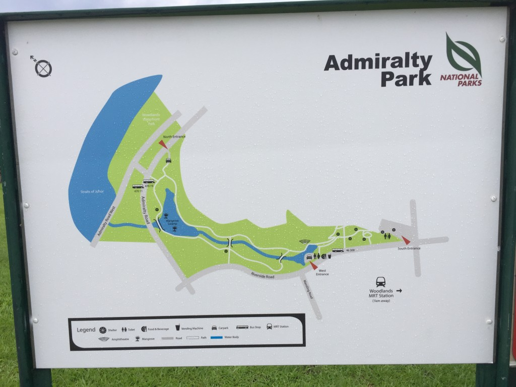 Map of Admiralty Park, Singapore