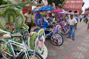 The Strange Trishaws of Malacca, Malaysia