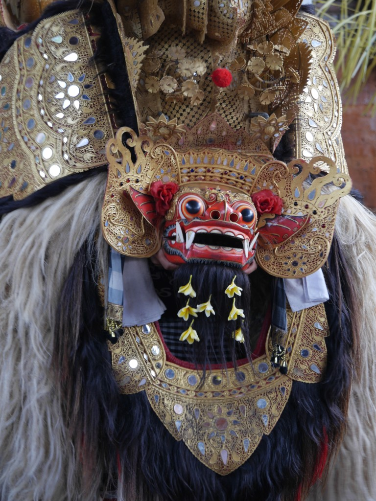 Close up of the Barong - a lion-like creature and the king of spirits