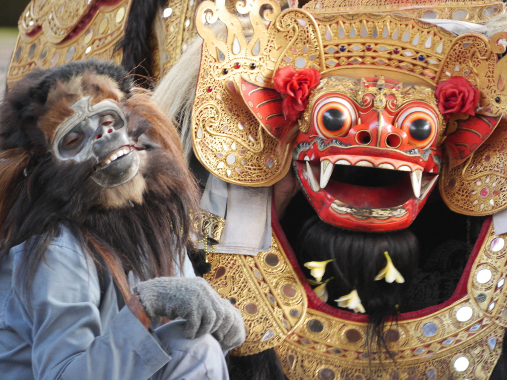 The Barong and the monkey