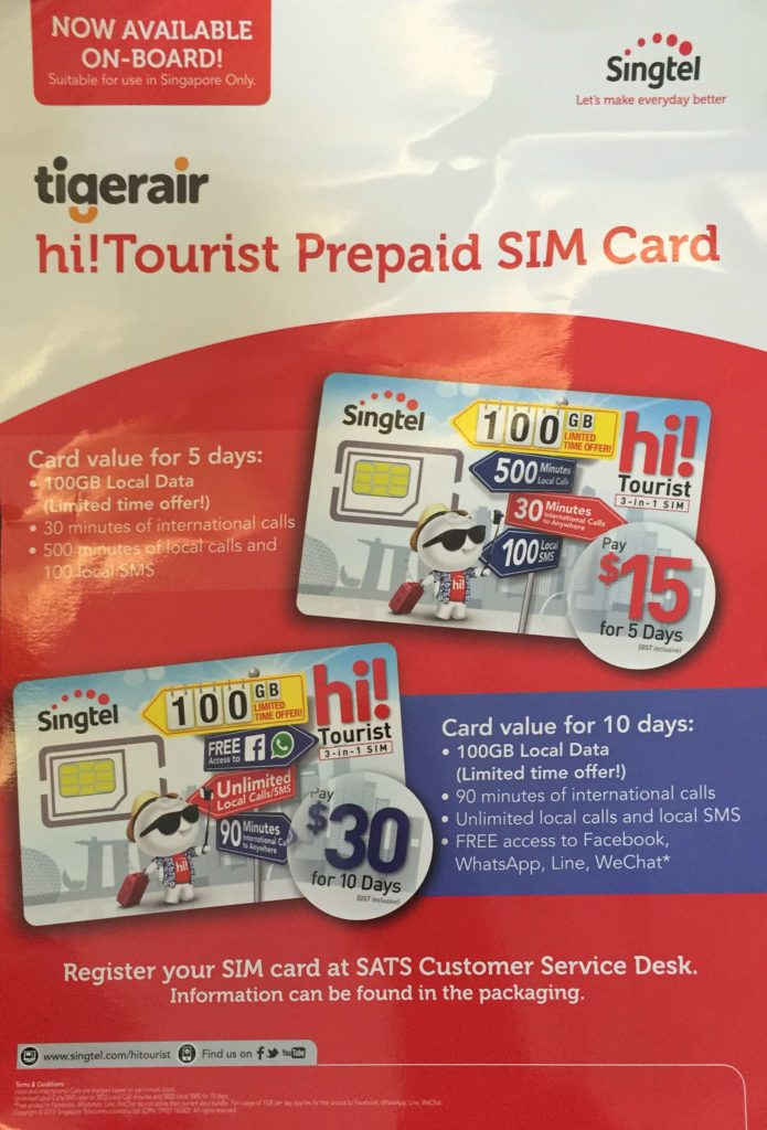 Singapore Tourist SIM Cards