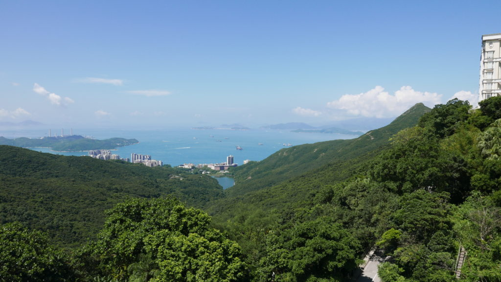 Looking south from Victoria Peak Hong Kong
