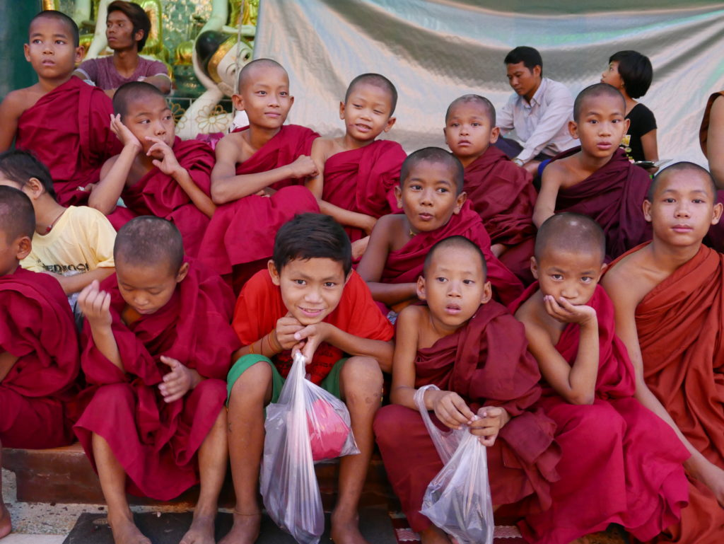 shwedagon pagoda 2017 young monks