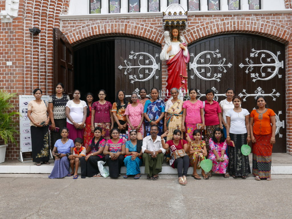 Visitors St Marys cathedral yangon