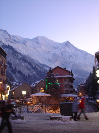 Downtown Chamonix in the evening...