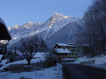 Sun on the mountains around Les Houches, Chamonix Valley, France