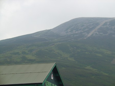 The Glenshee Ski Area - view of the highest point of the ski area from the road