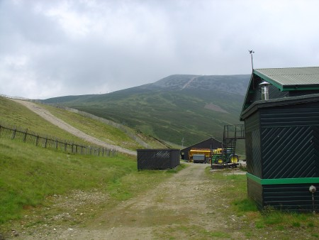The Glenshee Ski Area - behind the base-lodge