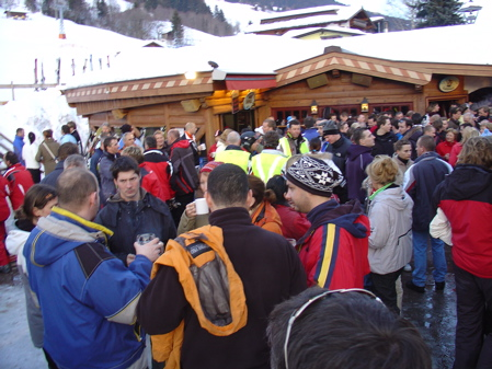 One of the main bars in Saalbach