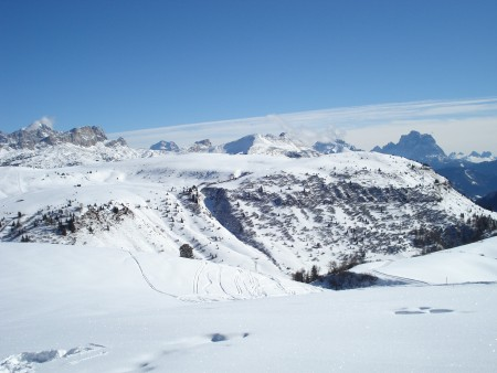 Great weather and great skiing in Alta Badia, Italy - Last day skiing Corvara