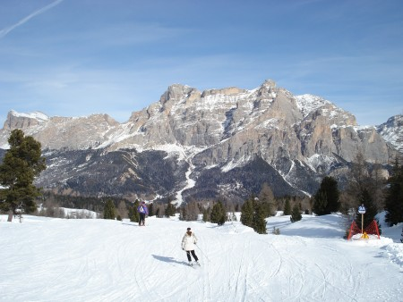 Another gorgeous run - skiing in Corvara (Alta Badia), Italy