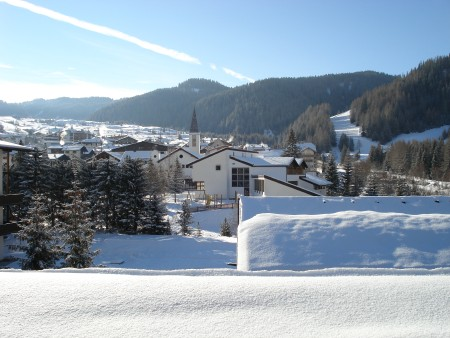 Corvara after a fresh snow fall - Last day skiing Corvara