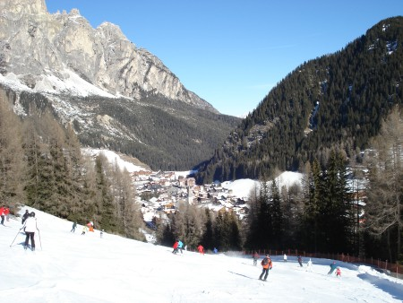 Looking towards Corvara - skiing corvara