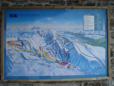 Ski Map - Remarkables, Queenstown, New Zealand