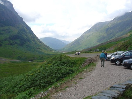 View looking down Glencoe, Scotland